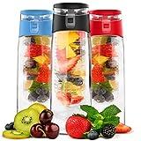 Vremi 24 Oz Fruit Infused Water Bottle - BPA Free...