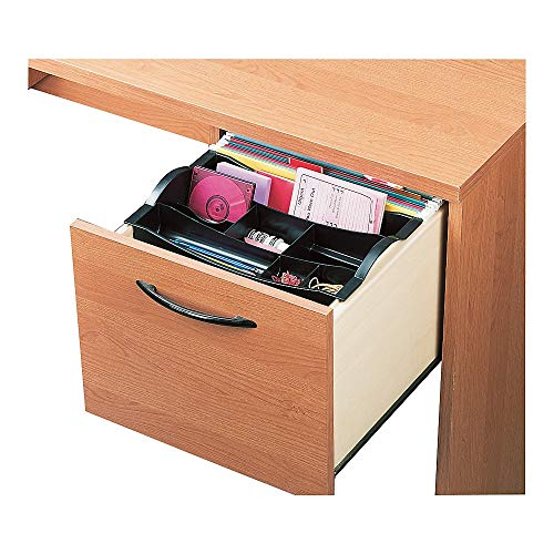 Rubbermaid Hanging Desk Drawer Organizer, Plastic, Black (11916ROS)