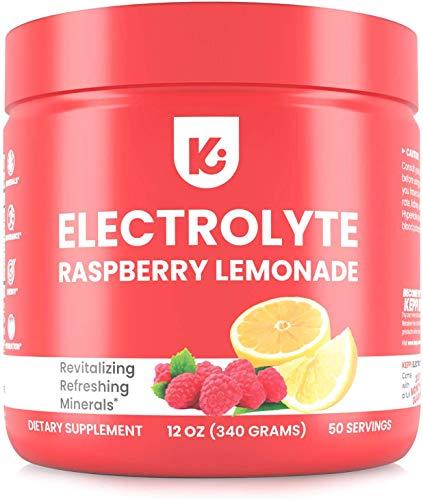 KEPPI Keto Electrolytes Powder - 50 Servings No Sugar or Carbs - Advanced Hydration Raspberry Lemonade Electrolyte Supplement, Boost Energy Without Sugar