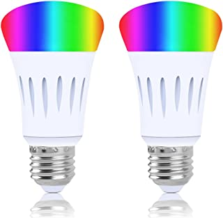 Smart Led Bulb, Work with Amazon Alexa and Google Assistant, Phone Control, Color Tunable 7W A19 Wi-Fi Smart Bulb, 60W Equivalent, 2 Pack