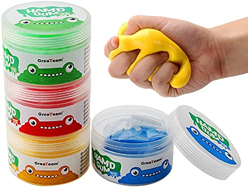 Guillala 4 Stücke Therapie-knete Putty Hand Squeezer, Hand Therapieknete Theraputty für Handtraining, Therapie Knete