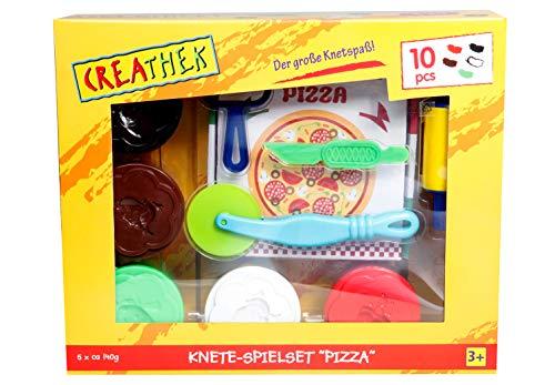Creathek Knete-Spielset Pizza, 9-teilig
