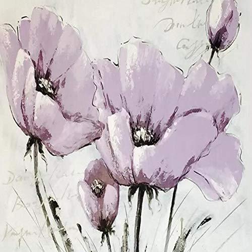 3D achtergrond Mooie lila bloemen Nordic minimalistische tv-achtergrond muurschilderijen behang poster fotowand 350 x 245 cm.