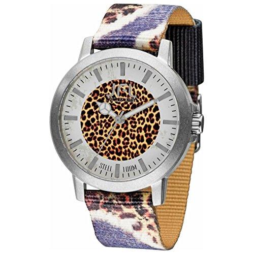 Orologio JFL di Jaques Farel stile hipster con bandiera Leopard CRS 011