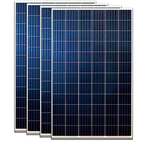 Desconocido Pack 4 Placas Solares Policristalinas 12V /24V / 48V 250W - Kit 1.000W Instalación fotovoltaica