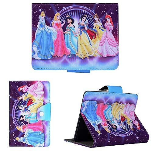 Super Hero & Princesses ~ Universal Tablet Cover ~ For Kids Boys & Girls ~ (Universal 8' (8' Inch), Purple Disney Princesses)