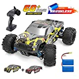 DEERC Brushless RC Cars High Speed Remote Control Car 4WD 35+ MPH 1:18 Scale RC Monster Truck for Kids Adults, All...
