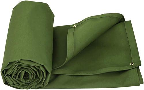 Yuke Bache imperméable - Bache Verte en Polyester Robuste 600g   m2 pour Camping Car (Taille   7x5m)