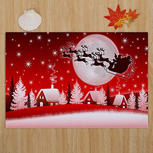 Fineday Merry Christmas Welcome Doormats Indoor Home Carpets Decor 40x60CM, Home Decor, for Christmas New Year (H)