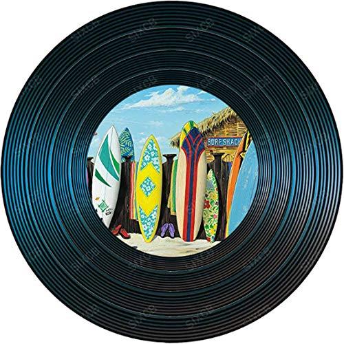 Scott Westmoreland Placa De Disco De Vinilo De Madera Redonda Personalidad Pintura De Madera Decoración De La Pared Regalo De Cumpleaños Decoración Del Jardín Del Garaje