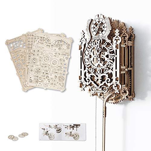 "3D-Holzfunktionsbausätze \""Royal Clock\"" by WOODEN.CITY | 3D-Puzzle Zusammenbau ohne Klebstoff"