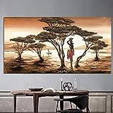 hetingyue Große abstrakte Ölgemälde Moderne afrikanische
