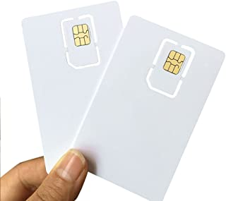 AHongem Writable Programmable Blank SIM USIM Card 4G LTE WCDMA GSM Nano Micro SIM Card 2FF 3FF 4FF for Telecom Operator (10-Piece)