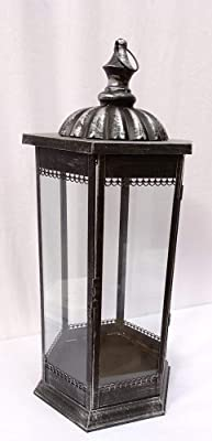 vidaXL Garden Wooden Candle Stand Grey Set Of Three Lighting Modern Stick