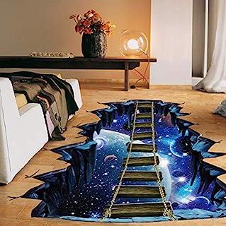 universe galaxy suspension bridge floor stickers waterproof space rope 3D parlor bedroom balcony wall sticker ceiling-xsq