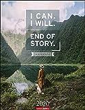 I can - I will - End of Story - Kalender 2020 - Weingarten-Verlag - Wandkalender mit Sprüchen am Puls der Zeit - 34 cm x 44 cm