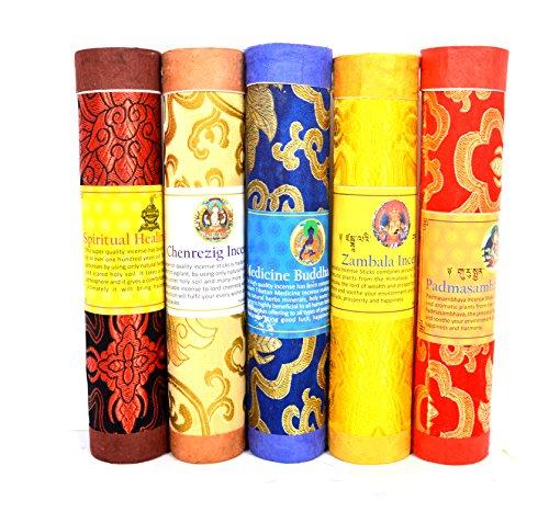 Bermoni Butaneses Aromático Incienso Tibetano de meditación Joss-Pack de 5 Incienso meditación...