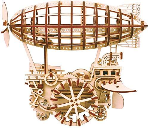 ROKR Laserschnitt 3D Puzzle Hölzerne Modell Kits zu Gebäude Geschenk für Teen und Erwachsene (Air Vehicle)