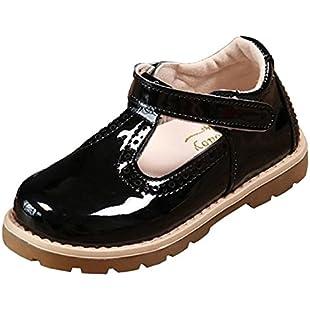 DADAWEN Baby Girl's T-Strap Dress Shoes Black UK Toddler Size 10:Kumagai-yutaka