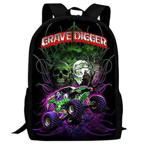 YRBZ GRA-VE DIG-GER Truck 3D Pattern School Bags Cool Backpacks for Youth
