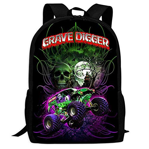 YRBZ GRA-VE DIG-GER Truck 3D Pattern School Bags Cool Backpacks for Youth