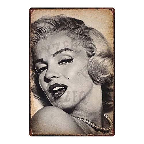 Cartel de la película monroe estrella amante del sexo chica metal estaño placa retro pared bar restaurante arte familiar cine tienda de tatuajes decoración etiqueta de la pared 20x30cm DU-7287