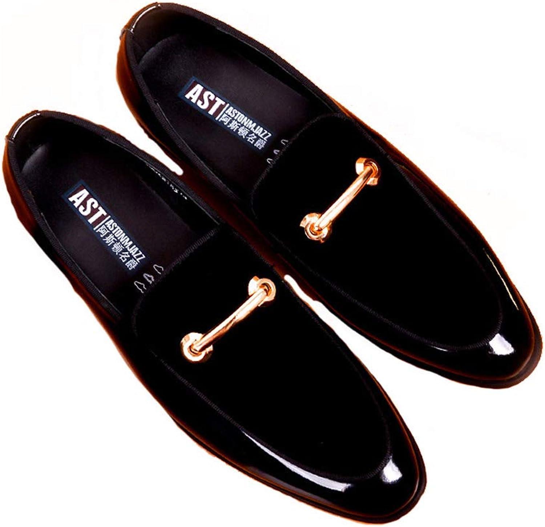 LXYIUN Business Casual britischen Herrenschuhe,Mattes Leder Wildleder echtes echtes echtes Leder Füße setzen Lederschuhe Einzelne Schuhe,Black,44 B07PCK5R2P  e67601
