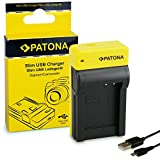 PATONA Estrecho Cargador para EN-EL12 Batería Compatible con Nikon Coolpix S8000, S8100, S9100, S9400, S9500