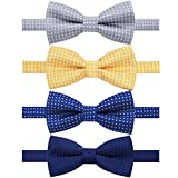 AUSKY 4 Packs Adjustable Pre-tied Bow Tie for Infant Baby Boys Toddler Child Kids in Different color