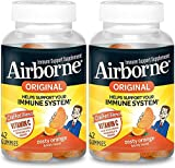 Airborne Zesty Orange Flavored Gummies, 42 count - 750mg of Vitamin C and Minerals & Herbs Immune Support (Packaging May Vary) ( Pack of 2)