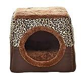 thematys Cueva del Gato I Cama para Gatos con Cojines Extra I Casa para Gatos Plegable I Cueva Convertible I Portátil y Resistente a los arañazos (Style 5, XL (38 x 38 x 34 cm))