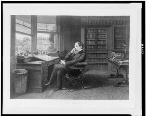 INFINITE PHOTOGRAPHS Photo: Charles Dickens in his Study at Gadshill