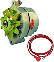 NEW POWERMASTER NATURAL FINISH ALTERNATOR, V-BELT PULLEY, 140 AMP, COMPATIBLE WITH FORD, LINCOLN, MERCURY
