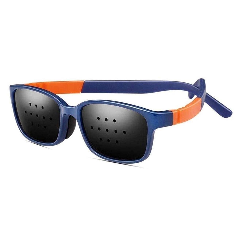 ユニセックス視力ビジョンケアビジョン改善ピンホールメガネ目エクササイズファッションナチュラル (Color : 紫の)