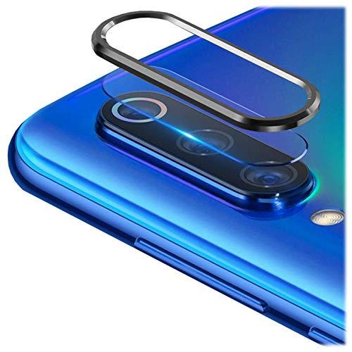 """mtb more energy® Film de protection d'écran et bague pour Xiaomi Mi 10, Mi 10 Pro (6.67"""") Noir"""