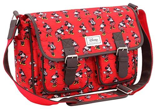 Disney Classic Minnie Cheerful Umhängetasche, 34 cm, Rot (Rojo)