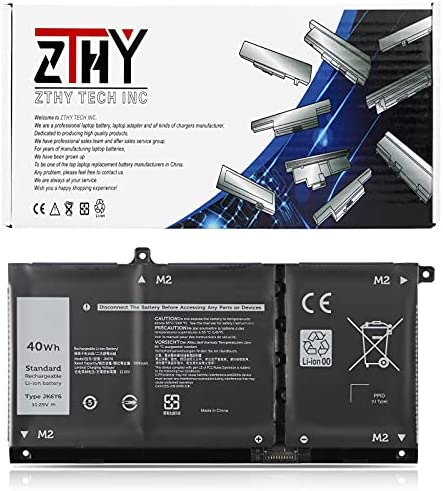 ZTHY JK6Y6 Laptop Battery Replacement for Dell Latitude 3410 3510 Vostro 5300 5401 5501 Inspiron 5300 5401 5408 5501 5508 5400 7405 7300 7500 2-in-1 Silver Series C5KG6 CF5RH H5CKD 11.25V 40Wh 3Cell