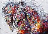 tzhwlh DIY 5D Diamantmalerei nach Anzahl Kits für Kinder Erwachsene, Vollbohrung Diamantmalerei Bunter Bus, Kristall Strass Stickerei Bilder Kunsthandwerk-40x50cm(16x20in)