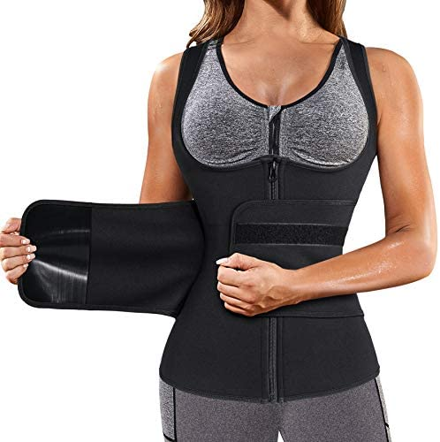 GAODI Women Waist Trainer Vest Slim Corset Neoprene Sauna Tank Top Zipper Workout Body Shaper product image