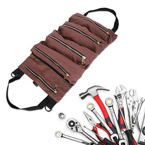 Organizador de herramientas de lona, bolsa, portátil para destornillador Llave Portaherramientas de lona Bolsa de herramientas de reparación