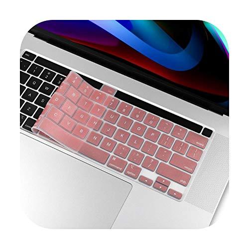 Toetsenbord beschermhoes voor nieuwe MacBook Pro 16 2019 model A2141 Us ingabescherming gemaakt van siliconen van het alfabet Engels Rose Gold.