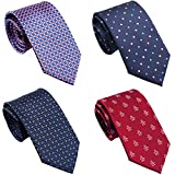 Extra Long Ties for Big/Tall Men, 63' X-Long & 70' XX-Long Ties, Assorted 4-Pack with Gift Box, Hand Made by Belluno
