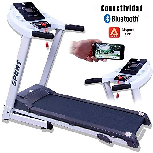CENTURFIT Caminadora Electrica 2Hp Motor Plegable Gym Inclinacion Walk Pantalla LED 12 Programas