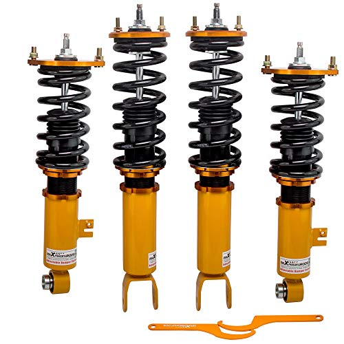 Coilover Struts Spring Shocks Assembly Adjustable Strut Shock Suspension Full Set Kits ECCPP for 1990-1996 Nissan 300ZX