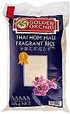 Golden Orchid Arroz Jazmín Tailandés para Usar con Platos de Carne, Vegetales y Pescados - Bolsa de 10 kg