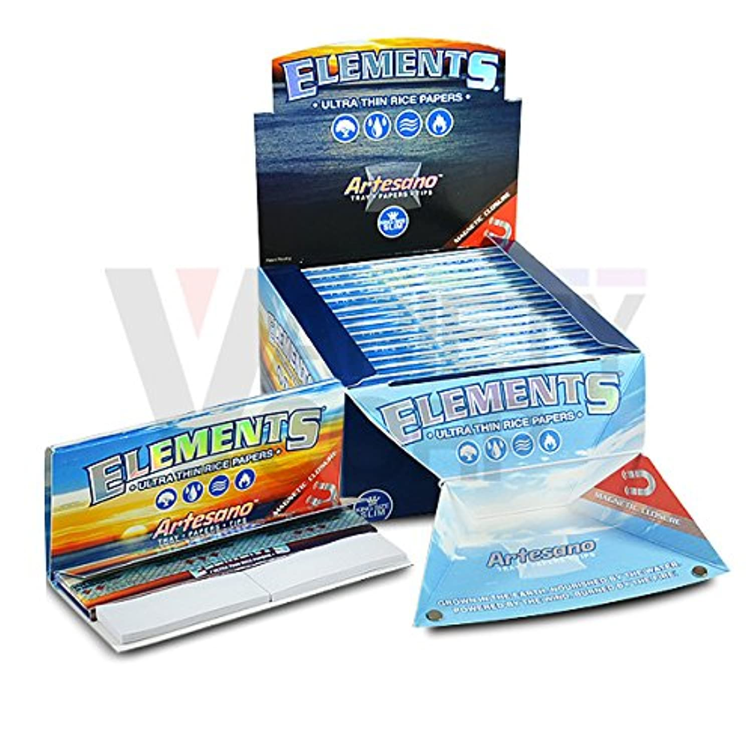 Elements King Size Ultra Thin Rice Papers 15/box