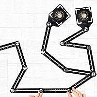 Angleizer Template Tool, 12 zijden, multihoekliniaal, aluminiumlegering, hoeksjabloon, multi-angle meetliniaal voor...
