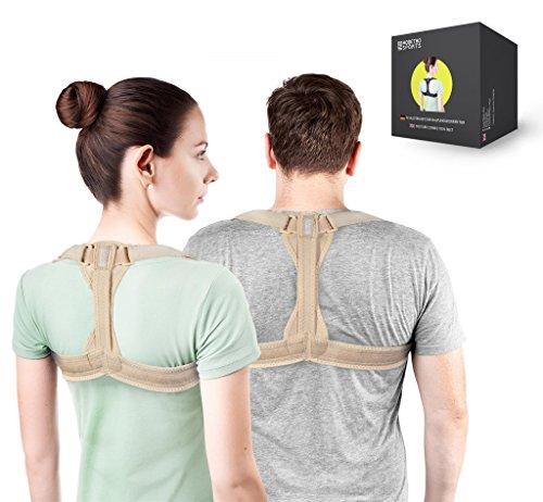 Modetro Sports Haltungstrainer,Geradehalter zur Haltungskorrektur Rückentrainer Schulter Rückenstütze,Schultergurt gegen Nacken -und Schulterschmerzen für gerader Rücken für Damen Herren
