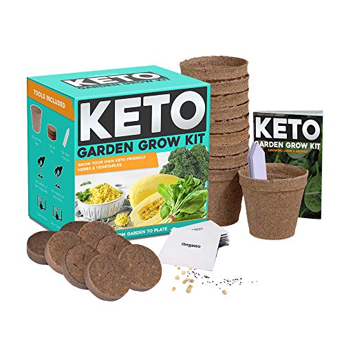 Keto Grow Kit Keto Garden Diet Grow Kit - Plant Your Own Keto Friendly Low Carb Meals Spinach, Kale, Zucchini, Grow Your Own Keto Meals 1