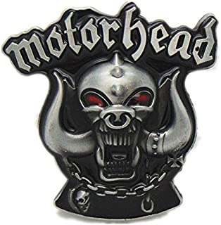Belt Buckle Motorhead Skull Vintage Motorhead Skull Head Machine Motorcycle Biker Lot Leather